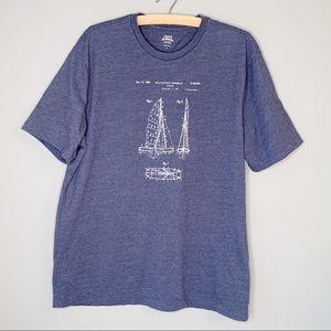 IZOD saltwater short sleeve t shirt ship design L